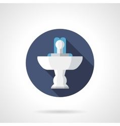 Indoor fountain round flat color icon vector