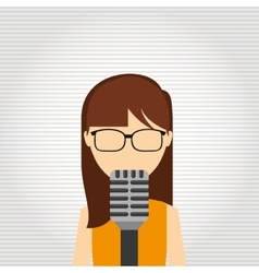 Singer isolated design vector
