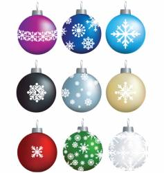 snow baubles vector image