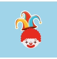 Circus juggler isolated icon design vector