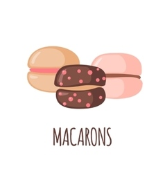 Macaroons icon on white background vector