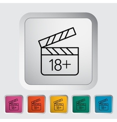 Adult movie clapper vector