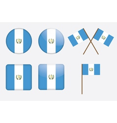 badges with flag of Guatemala vector image vector image