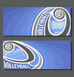 Banners for volleyball vector