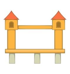 Bridge with towers icon cartoon style vector