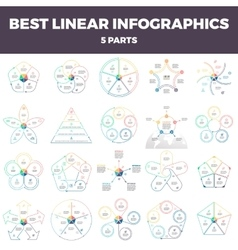 Business infographics Linear infographic elements vector image