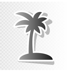 coconut palm tree sign new year blackish vector image vector image
