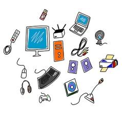 Computer accessories vector