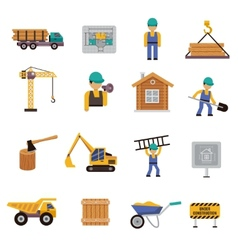 Construction icon flat vector