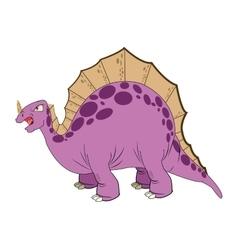 Cute cartoon stegosaurus comic draw vector