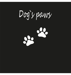 Dog paw icon of dog for zoo design vector