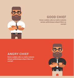 expressions and emotions two horizontal web vector image vector image