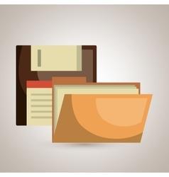 file folder floppy icon vector image