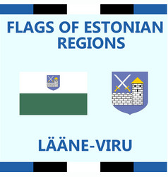 Flag of estonian region laane-viru vector