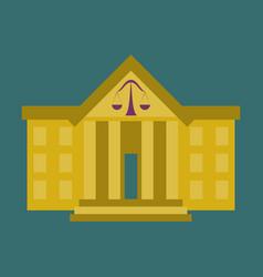 flat icon on stylish background courthouse vector image