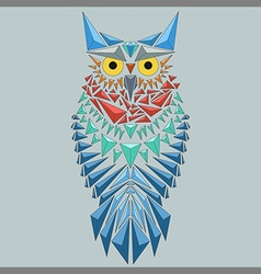 geometric owl vector image vector image