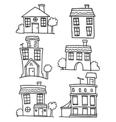 House set with hand draw collection vector