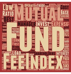 How to look for the best no load mutual funds text vector