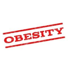 Obesity watermark stamp vector