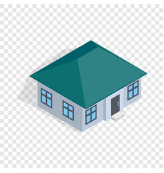 One storey house isometric icon vector