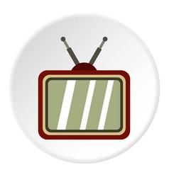 Retro tv icon circle vector