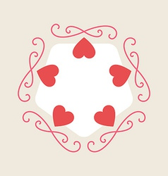 Romance background for Valentine Day card with vector image