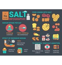 Salt infographic vector