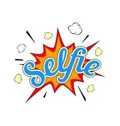 Selfie burst vector image vector image