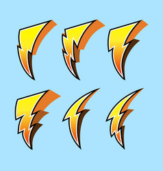 thunderbolt collection set vector image vector image