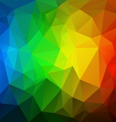 Vertical rainbow spectrum polygon triangular vector