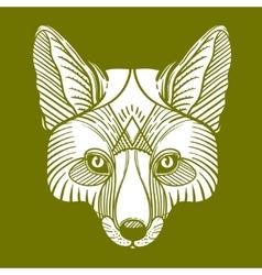 Animal fox head print Ethnic patterned ornate vector image