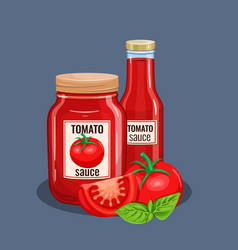 tomato sauce bottle vector image