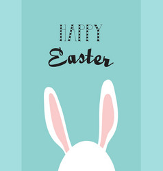 Greeting card with hipster easter rabbit vector