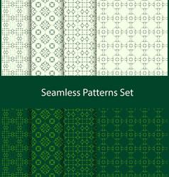 Dotted oriental motif seamless pattern set vector