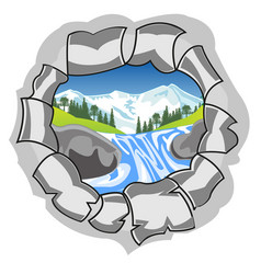 Hole with type on nature vector