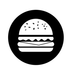 delicious burger fast food isolated icon vector image