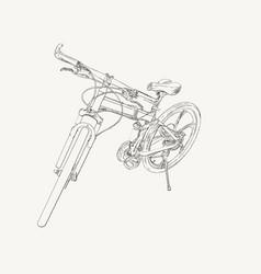 hand drawn modern bike sketch vector image