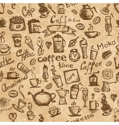 Coffee time seamless background grunge for your vector image