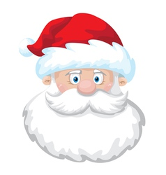 Cheerful santa head vector
