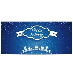 Just holiday card with 3d cloud and lettering vector