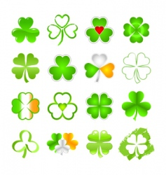 selection of shamrock vector image