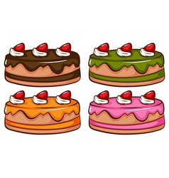A simple coloured sketch of the cakes vector
