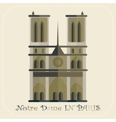 Notre dame cathedral in paris icon vector