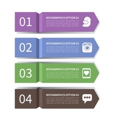 Modern arrow infographic elements vector