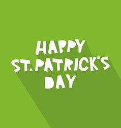 Happy st patricks day card design vector