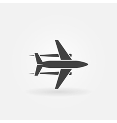 Plane icon or logo vector image