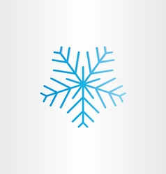 blue frozen snowflake icon vector image