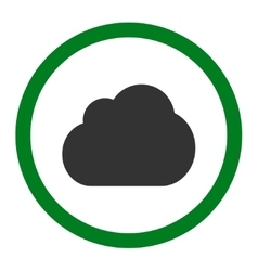 Cloud flat green and gray colors rounded vector