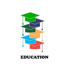 With education elements background vector