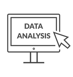 Marketing data analytics analyzing statistics vector